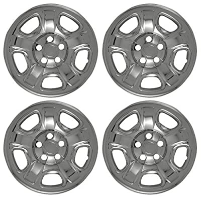 Set of 4 Chrome Wheel Skin Hub Covers With Center For 16x7 Inch 5 Lug Steel Rim - Part Number: IWCIMP/40X