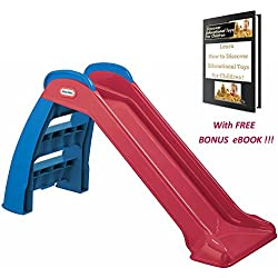 """First Slide Little Tikes Toddler Play Fun Toy for Indoor and Outdoor with Great, FREE, BONUS eBook: """"Learn How to Discover Educational Toys for Children!"""