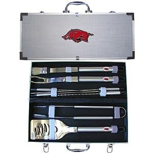 Buy NCAA Arkansas Razorbacks 8 Piece BBQ Set by SISKIYOU