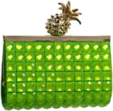 Kate Spade Lemon Drop Small Framed Lella Clutch,Green,one size