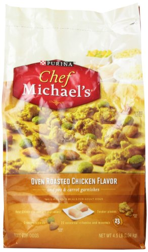 Chef Michael'S Oven Roasted Chicken Dry Dog Food 4.5 Pound Bag