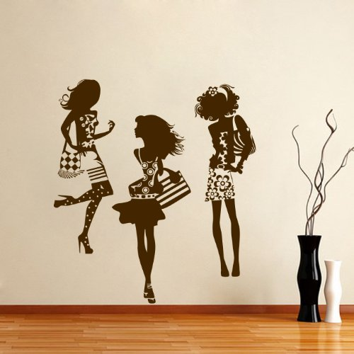 Housewares Vinyl Decal Fashion Elegant Girl Beauty Salon Shop Home Wall Art Decor Removable Stylish Sticker Mural Unique Design For Any Room back-569519