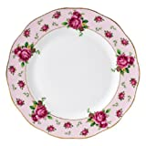 Royal Albert New Country Roses Pink Vintage Formal Dinner Plates