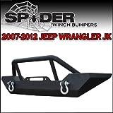 Spyder Front Rock Crawler Winch Mount Bumper W/ D Rings-07-12 Jeep Jk Wrangler