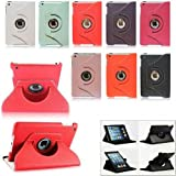 White New 360 Degree Rotating Litchi Stria Magnetic PU Leather Smart Case Cover Swivel Stand For Apple Mini iPad With Sleep/Wake Function