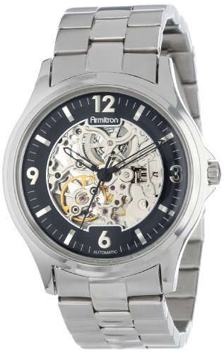 Armitron Men's 20/4892SVSV Automatic Silver-Tone Stainless Steel Black Dial Bracelet Watch