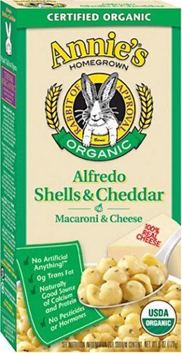 Annie's Homegrown Organic Alfredo Shells & Cheddar, 6-Ounce Boxes (Pack of 12)