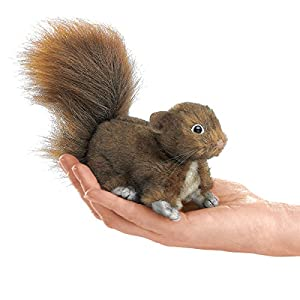 Folkmanis Mini Squirrel Red Finger Puppet from Folkmanis