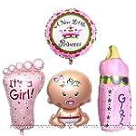 4PCS Girl Foil Helium Baby Foil Ballo...