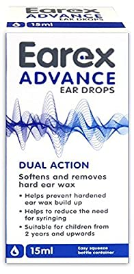 Earex Advance Ear Wax Removal Drops With Dual Action 15ml by Earex