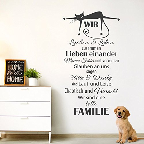 wandtattoo g nstig g070 wandtattoo spruch wir lachen leben zusammen wandaufkleber. Black Bedroom Furniture Sets. Home Design Ideas