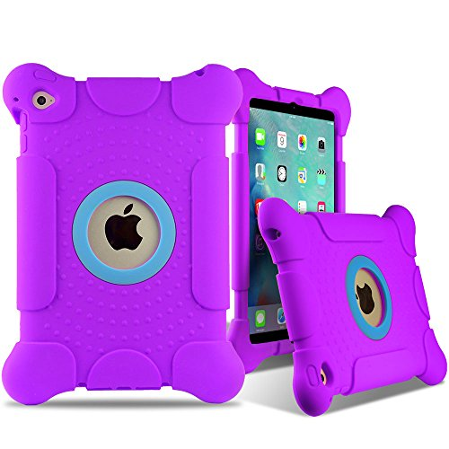 iPad Mini 4 Thick Armor Protective Case PURPLE Large Corners with Thick Screen Lift Protection, for Kids or Adults