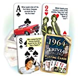 1964 Flickback Trivia Playing Cards: 51st Birthday Gift or 51st Anniversary Gift