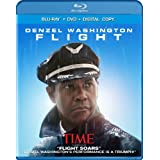 Flight (Two-Disc Combo: Blu-ray / DVD / Digital Copy + UltraViolet) ~ Denzel Washington