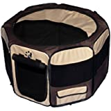 Pet Gear Travel Lite Octagon Pet Pen with Removable Top for Cat and Dog up to 30-Pound, 29-Inch, Sahara