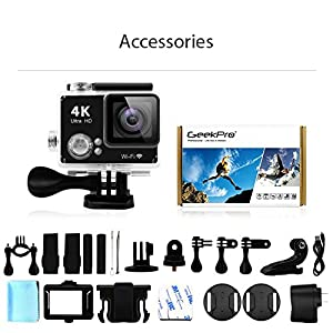 GEEKPRO Pro3 Ultra Slim 4K HD WIFI Action Camera Waterproof Snorkeling Camcorder 170 degree Sports Camera