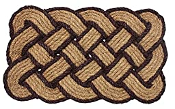 J & M Home Fashions Lovers Knot Coco Doormat, 22 by 36\