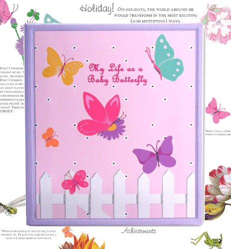 Dolce Mia Flowers and Butterflies Baby Memory Book - 1