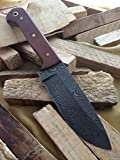 Massive Sale!!!! Knife King Custom Damascus Handmade Hunting Knife. With Leather Sheath. Top Quality
