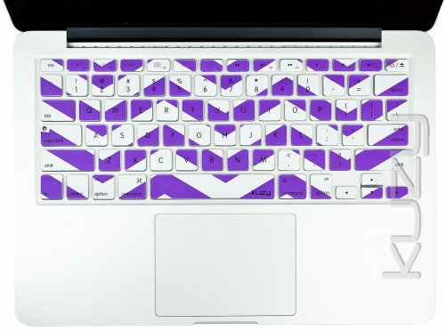 #>>  Kuzy - Purple Chevron Zig-Zag Keyboard Cover for MacBook Pro 13