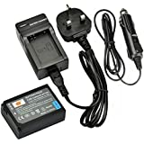 DSTE® BP-1030 Rechargeable Li-ion Battery + DC124U Travel and Car Charger Adapter for Samsung NX200 NX210 NX300 NX300M NX500 NX1000 NX1100 NX2000 Digital Camera as BP1030 BP1130 ED-BP1030