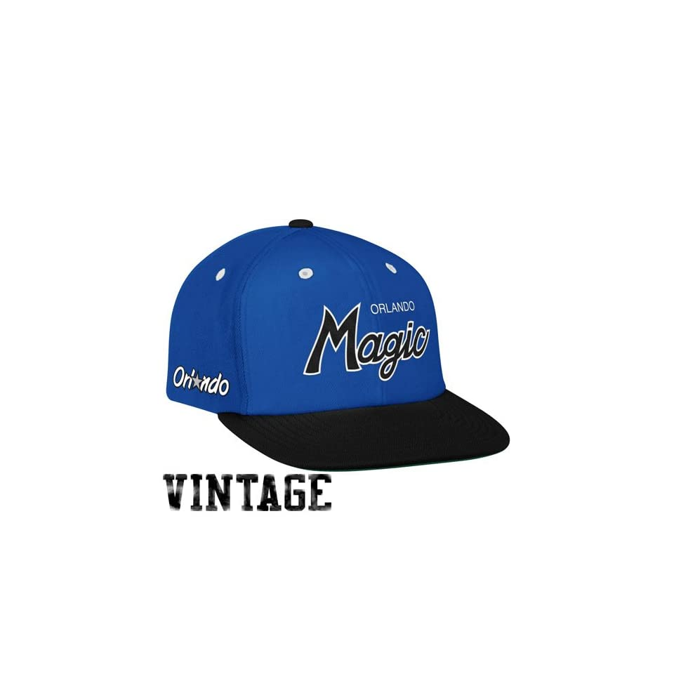 423a28a3aa7 NBA Mitchell   Ness Orlando Magic Royal Blue Black Special Script Snapback  Adjustable Hat