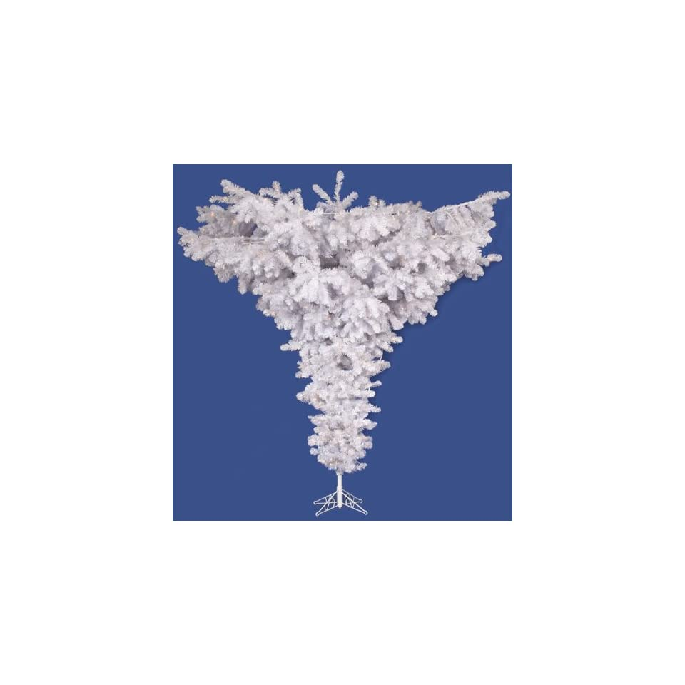 Vickerman 75 Unlit Crystal White Upside Down Artificial Christmas Tree