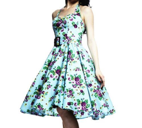 HELL BUNNY Kitsch 50s DRESS MAY DAY Rockabilly Vintage Floral All Sizes