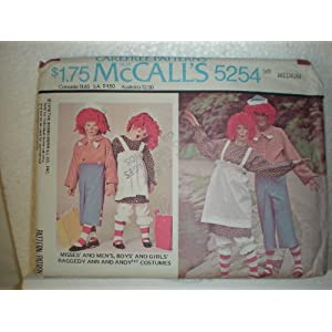 Vintage McCalls Raggedy Ann and Andy Pattern 5254