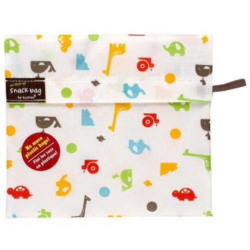 Kushies Baby Kushies On The Go Snack Bag, Animal Print, Large