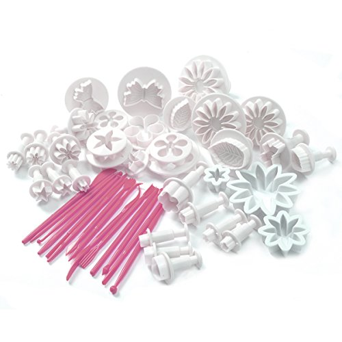47pcs Cake Decoration Mold Tools Set Sugarcraft Icing Cutters Plungers NEW (Cake Decoration Accesories compare prices)
