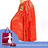 51yJDQukxTL. SL160  BellyLady Gold Stamping Skirt RED