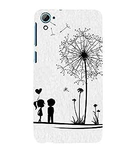Vizagbeats Black & White Couple Back Case Cover for HTC Desire 826::HTC Desire 826 Dual