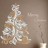 Decal Style Christmas Tree Wall Sticker Large Size- 24*22 Inch Color - Multicolor
