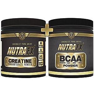 Bodybuilding Supplements - Creatine Powder and BCAA Powder