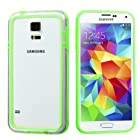 PhoneTatoos (TM) For Galaxy S5 Apple Green/Transparent Clear MyBumper Phone Protector Cover - LIFETIME WARRANTY