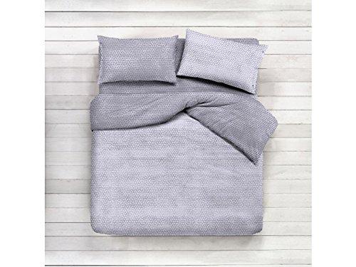 Completo lenzuola letto matrimoniale 1 piazza 1 piazza e mezza BORBONESE grigio