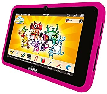 Videojet 5072 - KidsPad 4 rose (tablette tactile pour enfant + protection en silicone)
