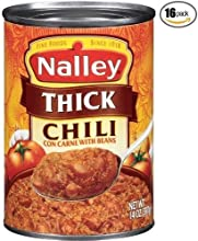 Nalleyreg Thick Chili Con Carne with Beans 14-ounce Cans Pack of 16