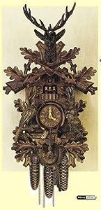 Alemán Reloj cucú 8 días de movimiento 75 cm - Auténtico reloj de cuco del bosque negro tallada de estilo de Anton Schneider por Anton Schneider