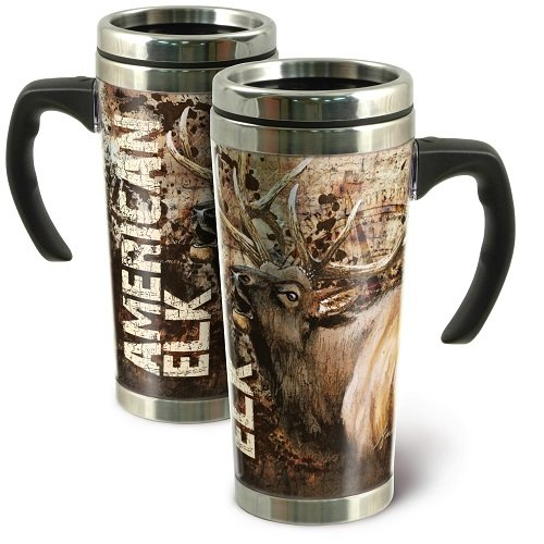 American Expedition Elk Steel Travel Mug, 24-Ounce