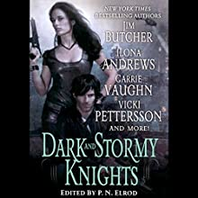 Dark and Stormy Knights Audiobook by Ilona Andrews, Jim Butcher, Shannon K Butcher, Rachel Caine, P. N. Elrod, Deidre Knight, Vicki Pettersson, Lilith Saintcrow, Carrie Vaughn Narrated by Renee Raudman, Joe Barrett, Marc Vietor, Suzanne Toren, David Pittu, Katherine Kellgren, Natalie Gold, L J Ganser