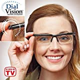 Dial Vision Adjustable Lens Eyeglasses (Color: Black)