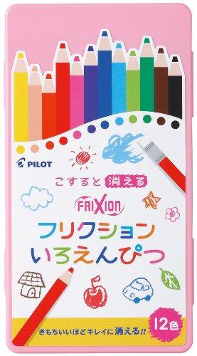 パイロット フリクションいろえんぴつ 12色セット ピンク