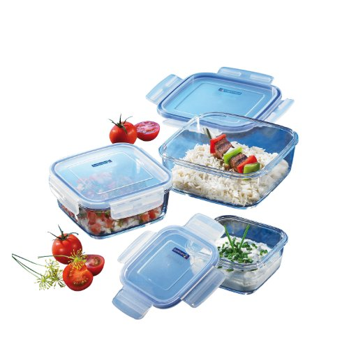 Luminarc Pure Box Set di 3 contenitori quadrati 14057
