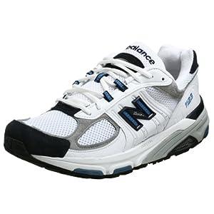 New Balance Men's MR1123 Running Shoe,White/Navy,12 D