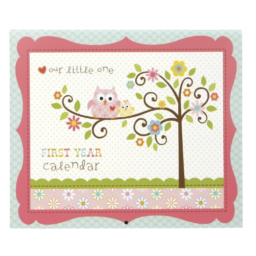 C.R. Gibson First Year Calendar, Happi Baby Girl front-8586