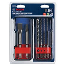 Bosch HCST006 SDS-plus Masonry Trade Bit Set, Chisels and Carbide, 6-piece