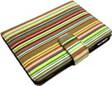 Lente Designs® Amazon Kindle Touch and Paperwhite case in 'Smithy Stripes' design