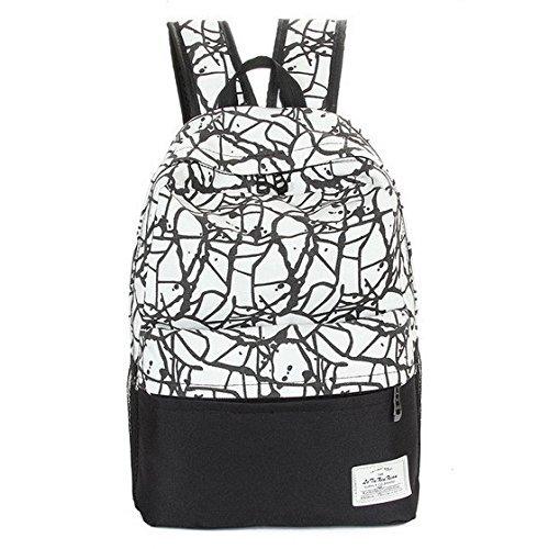men women canvas backpacks schoolbag school bags for